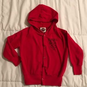 2008 Red H-D Harley-Davidson Snap Button Hoodie 4T